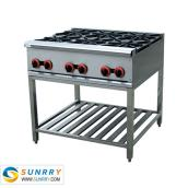 Freestanding Gas Range with 6 burners