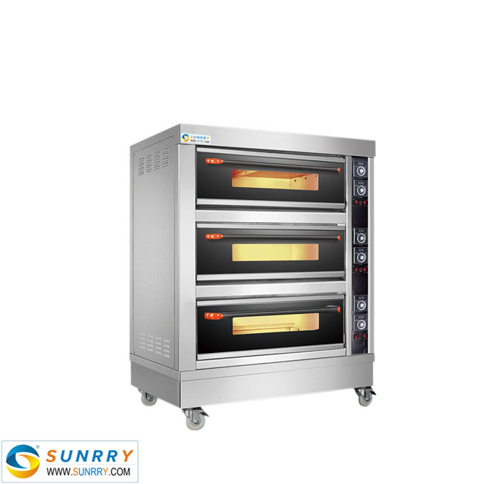 Electric Deck Oven With Glass Door